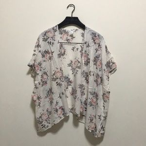 Forever 21 Floral Short Sleeve Cardigan/Kimono
